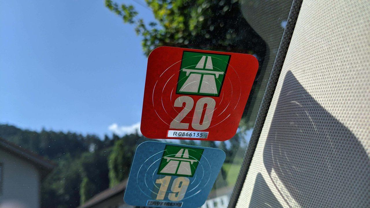 スイス高速道路シール