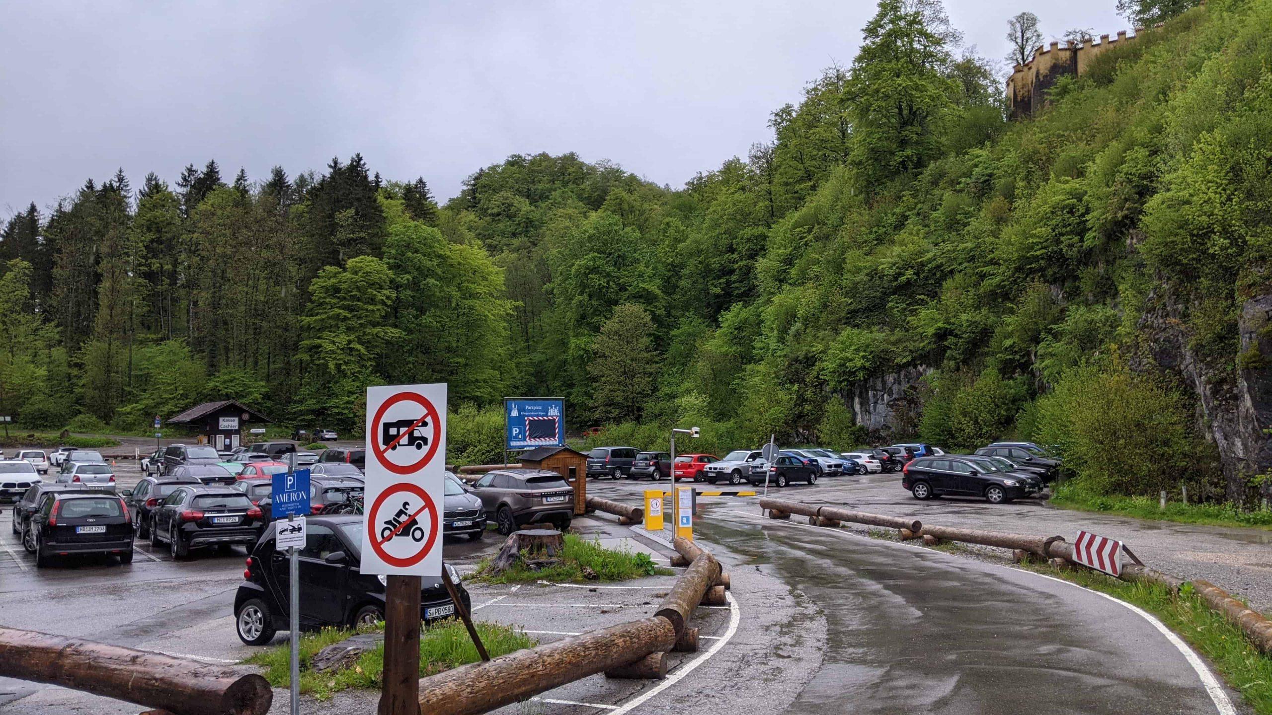 ノイシュバンシュタイン城の駐車場