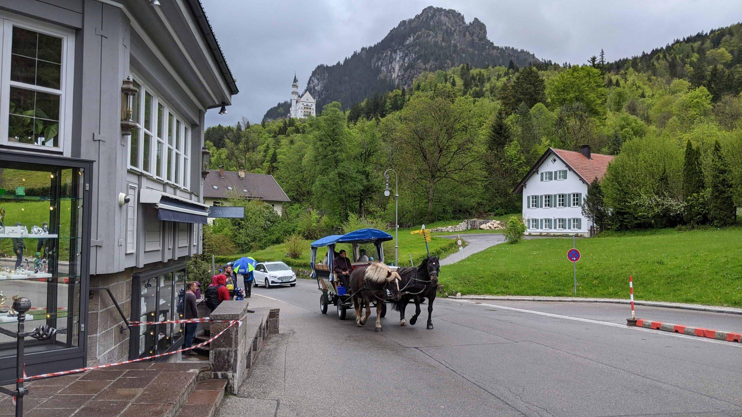 ノイシュバンシュタイン城の馬車