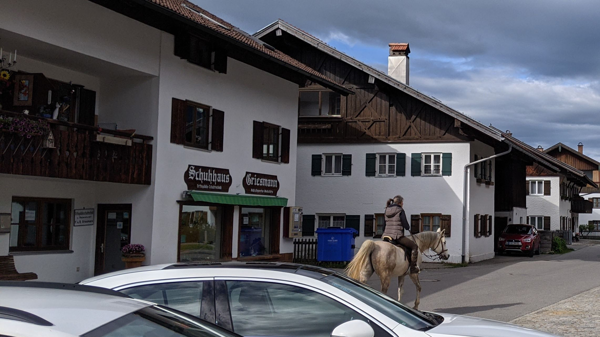 ドイツの街中を馬で闊歩