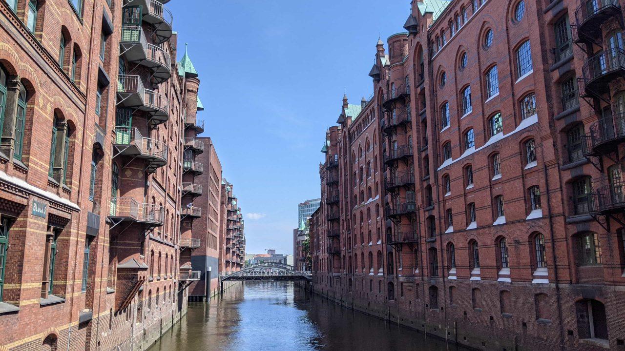 ドイツのハンブルク倉庫街