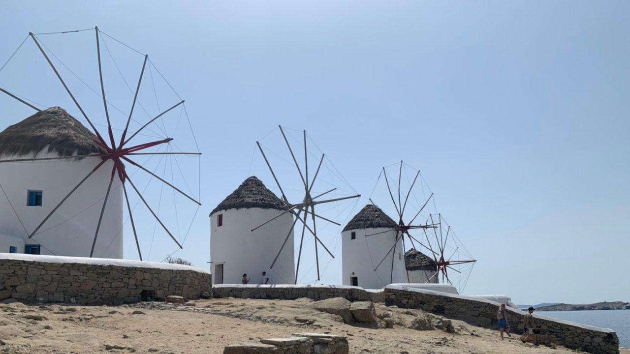 ミコノス島のカト・ミリ風車
