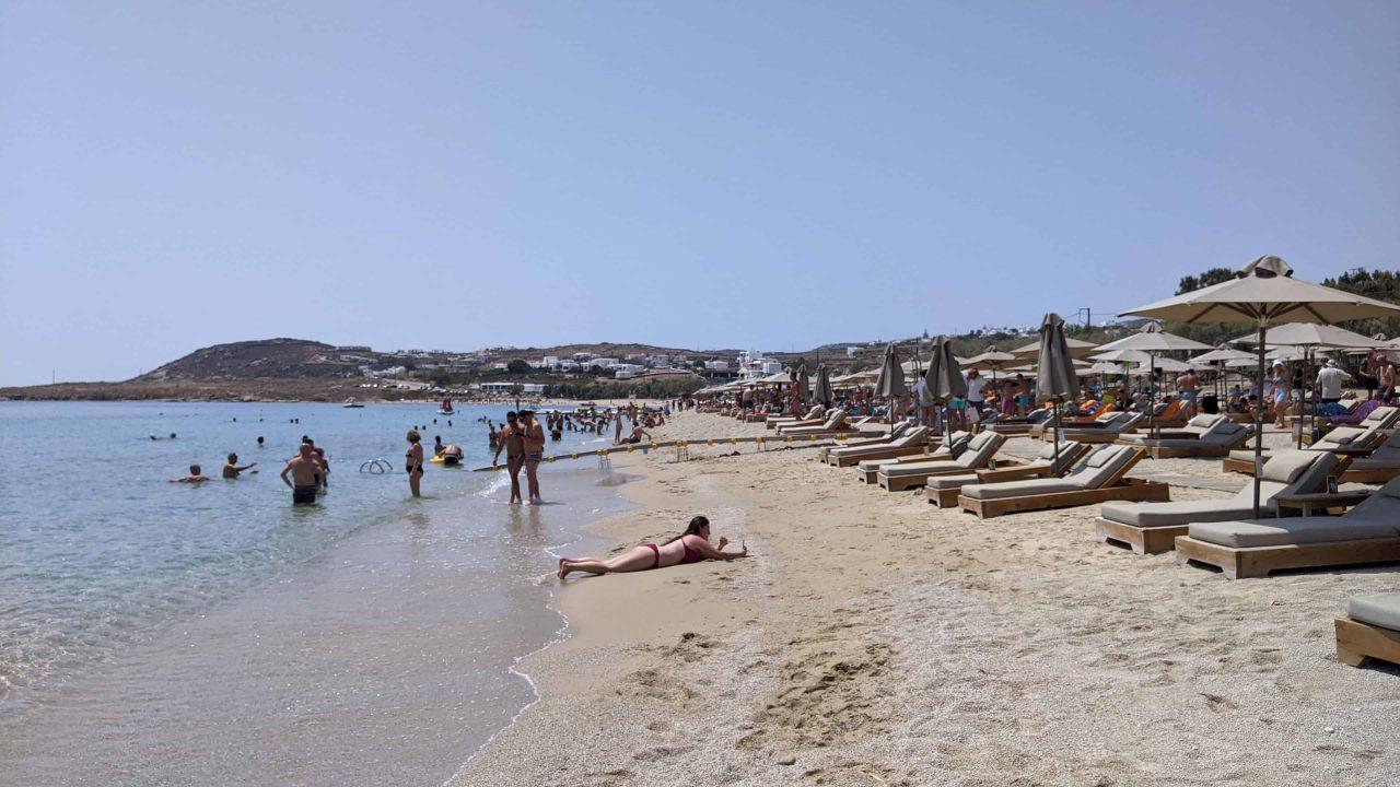 ギリシャのミコノス島の海